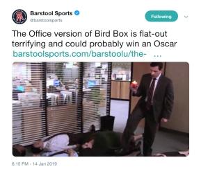 Barstool Tweet